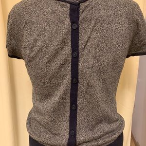 Anthropologie button back top